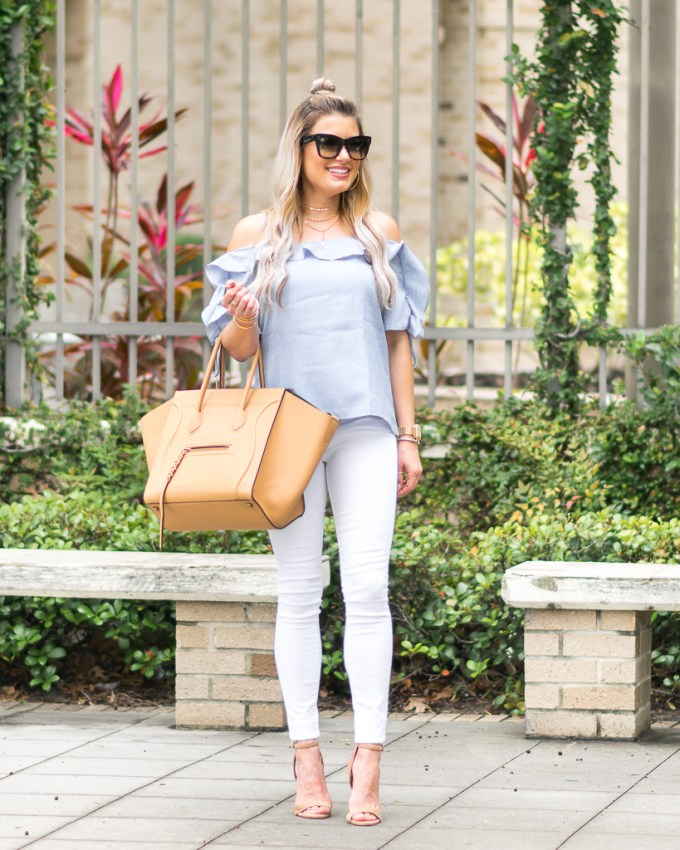 nordstrom celine phantom frame white denim