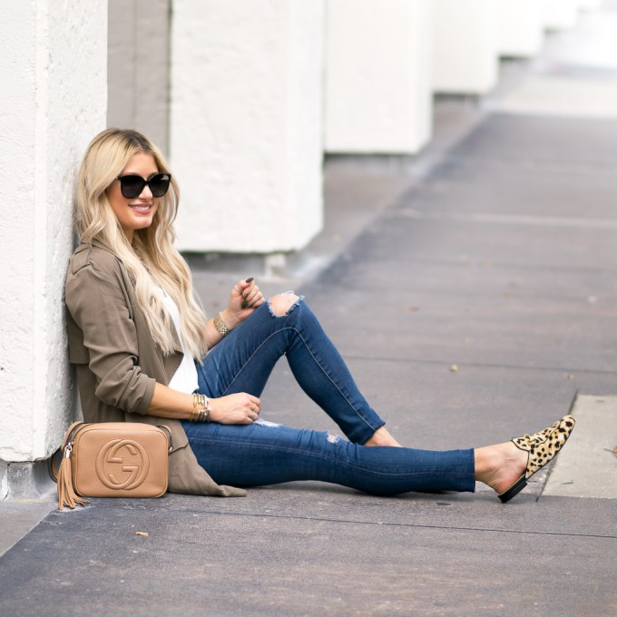 leopard loafers fall layers