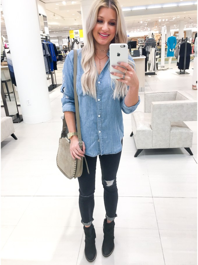 rails embroidery chambray shirt madewell