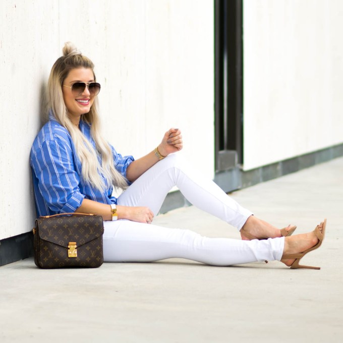 white skinny jeans frame denim