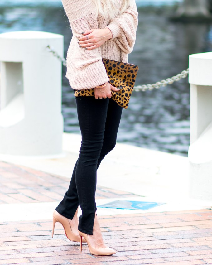 clare v leopard clutch christian louboutin pigalle