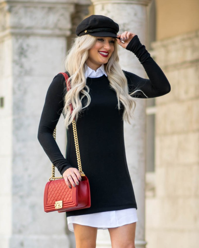 black and white dress brixton hat
