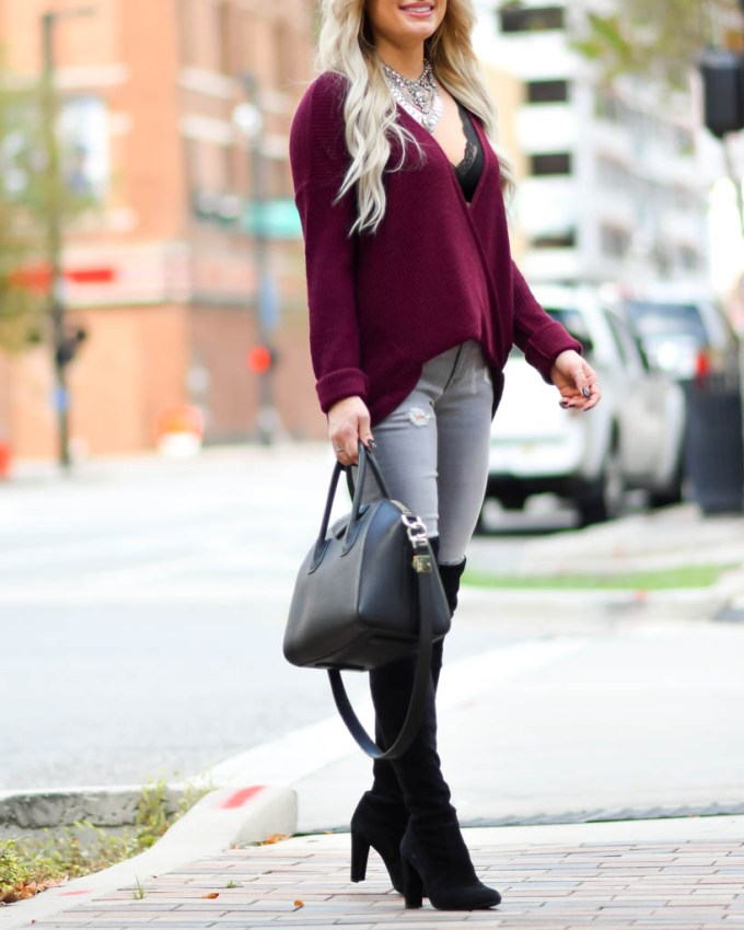 over the knee boots suede black