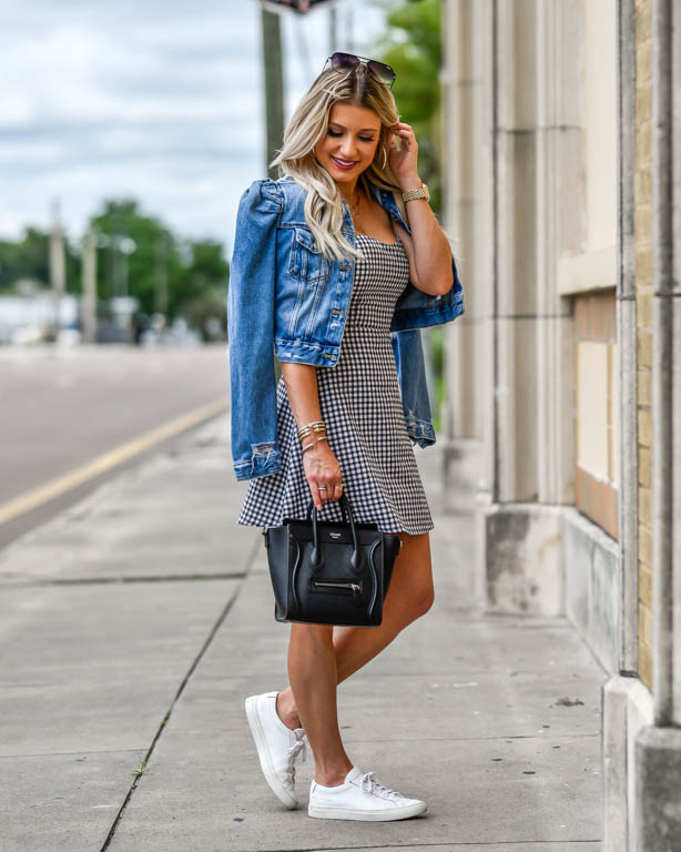 1f24d73e9bea Easy Gingham Summer Dress   Sneakers + My Life This Week