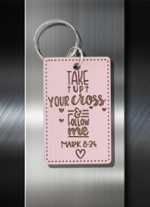 Key ring Take Up your Cross and Follow Me Mark 8 34