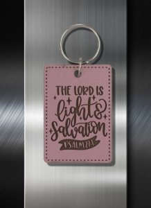 Key ring The Lord is Light and Salvation Psalm 27 01