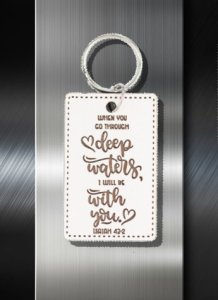 Key ring When you go through Deep Waters I will go with you Is 43 02