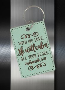 Key ring With His Love He Will Calm All your Fears Zeph 03 17