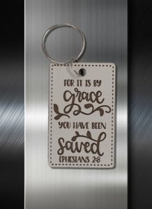 Key ring For It is By Grace Ye Have Been Saved Ephesians 2 08