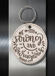 Key ring Be Strong and Courageous Joshua 1 9 b