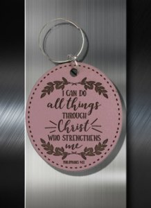Key ring I can do all things through Christ who strengthens me Phil 4 13