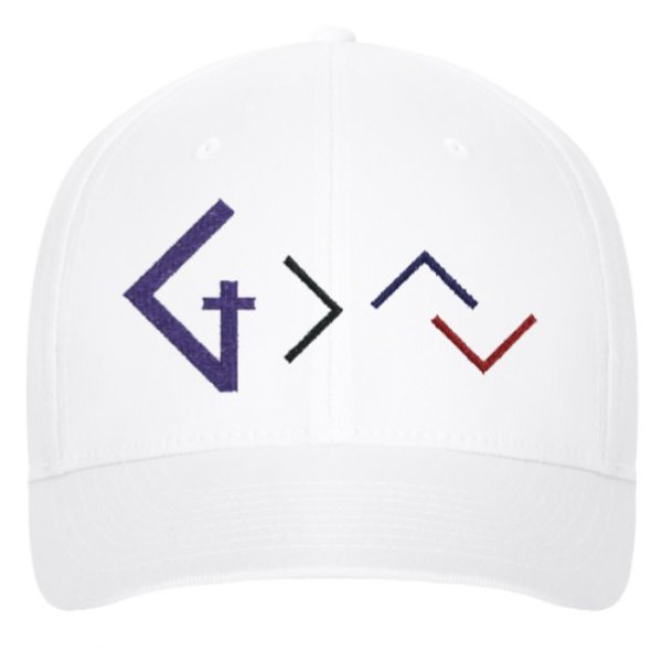 Christian Books and Gifts | Premium Ball Cap - God is greater than your ups and downs - Embroidered