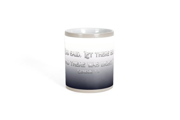 Christian Books and Gifts | Revealing Color Changing Mug - Let There Be Light - Genesis 1:3