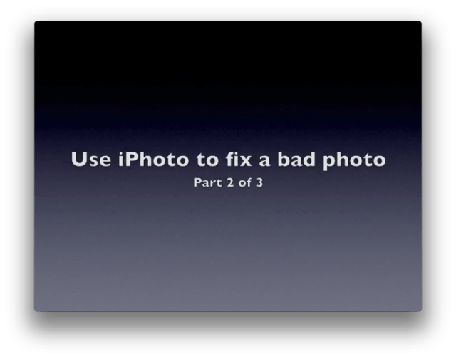 How to fix a photo, part 2