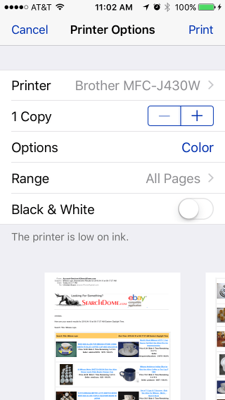Print from an iPhone: Printing Options in IOS