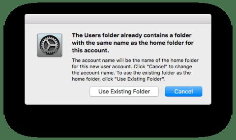 Use Existing Folder