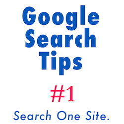 How to restrict your Google search to a single website