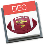 College Football on December Calendar page