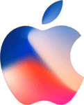 Red and blue Apple logo from invitation to September 2017 Apple Event