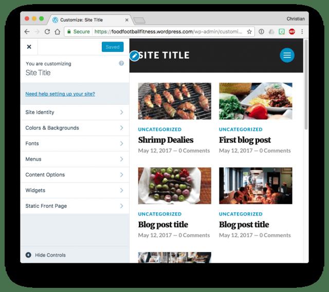 WordPress customizer