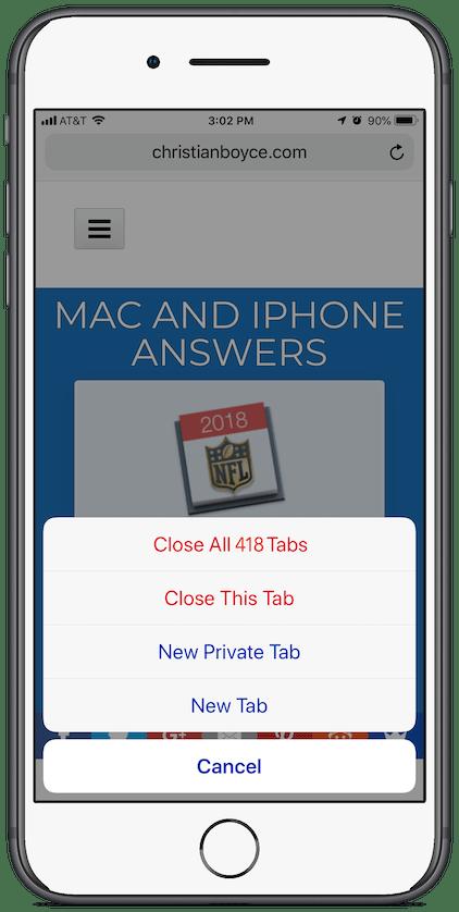 Close All Tabs (Method 1)