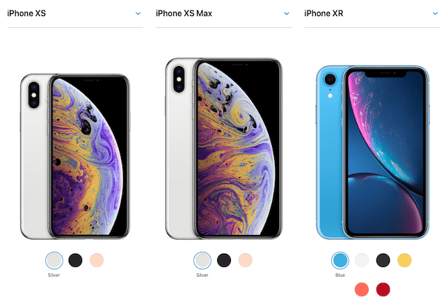 iPhone XS, XS Max, and XR