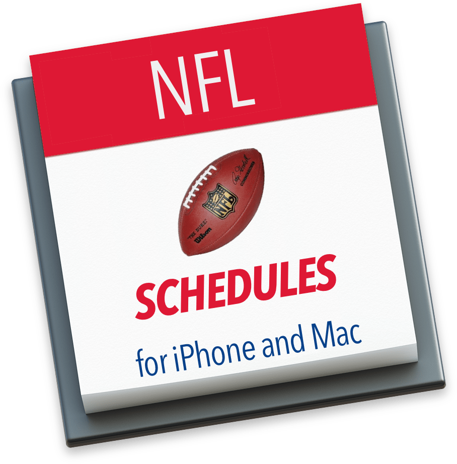 NFL Schedules for iPhone and Mac