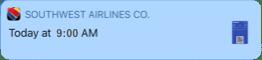 Notification about a flight