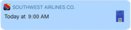 Notification about a flight