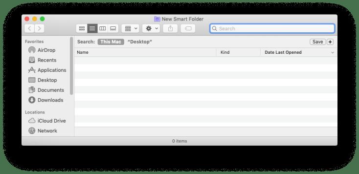 The New Smart Folder box