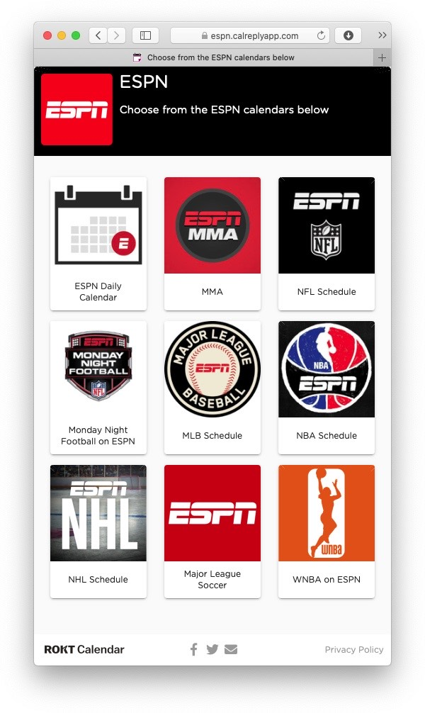 ESPN's hidden stash of iPhone- and Mac-compatible calendars
