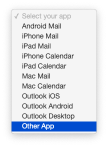 "Choose ""Other App."""