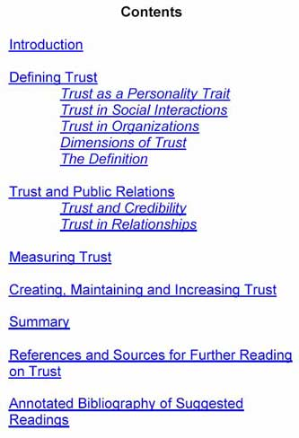 Trust and PRPractice