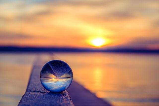 Ammersee / Sonnenaufgang / Glaskugel