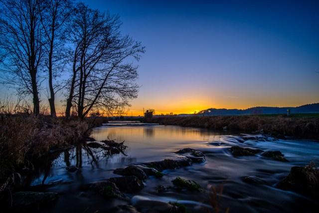 Schmutter / Fluss / Abend / Stimmung