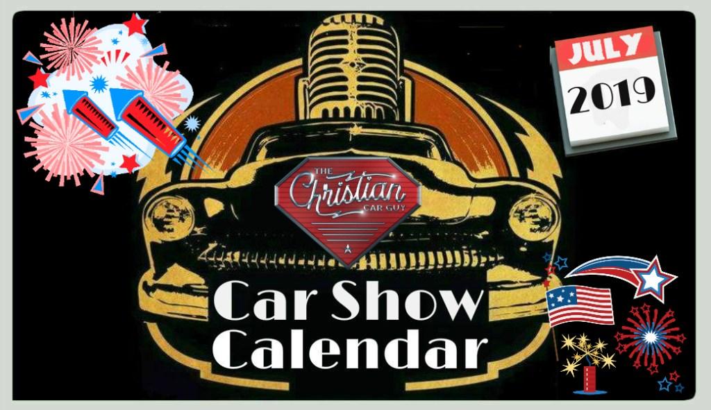 Car Show Calendar July 2019