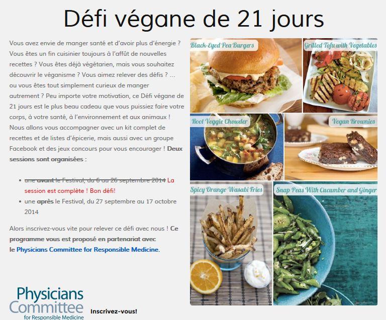 Defi vegane