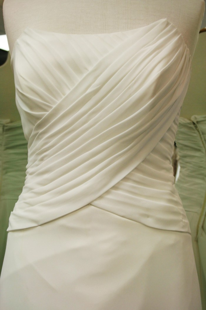 Charlotte: Drapped wedding dress one
