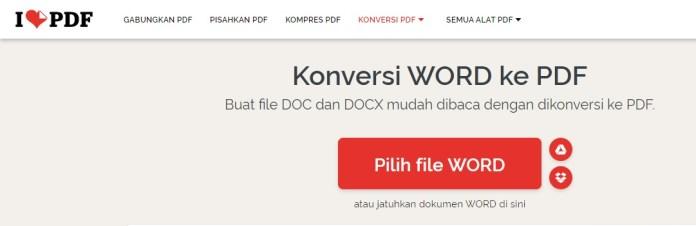 ilovepdf.com - Mengubah file word ke pdf