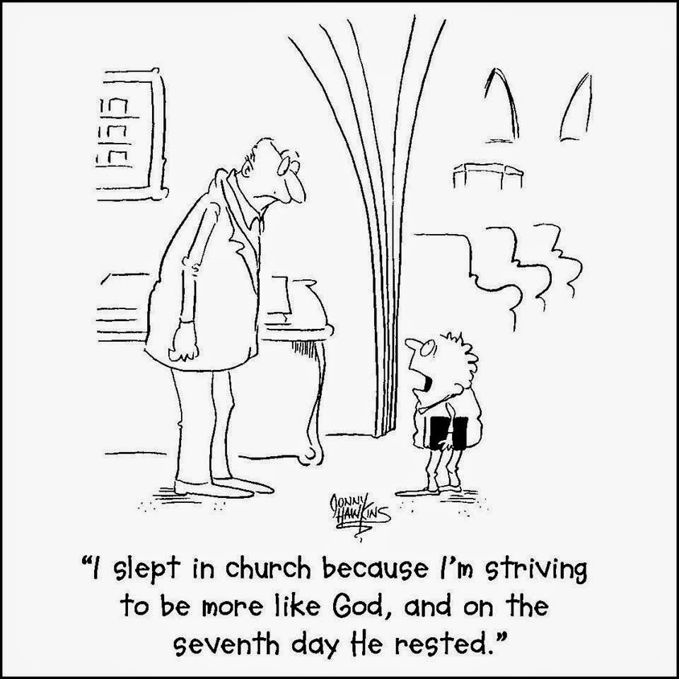 Did you know the Bible encourages sleeping in church
