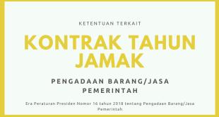 Kontrak Tahun Jamak Perpres 16 Tahun 2018