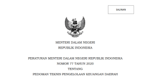Pmdn Pedoman Teknis Pengelolaan Keuangan Daerah