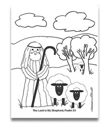Psalm 23 The Lord Is My Shepherd Coloring Sheet Bible