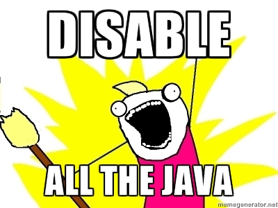 disable java