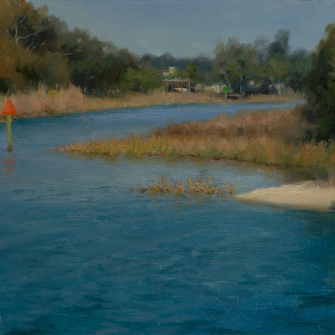 Oil painting entitled 17th Ave Inlet Plein Air, by artist Christian Hemme.