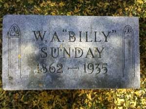 Billy Sunday Grave