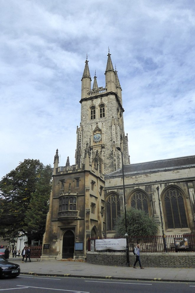 800px Tower of St Sepulchre without Newgate Church 768x1152