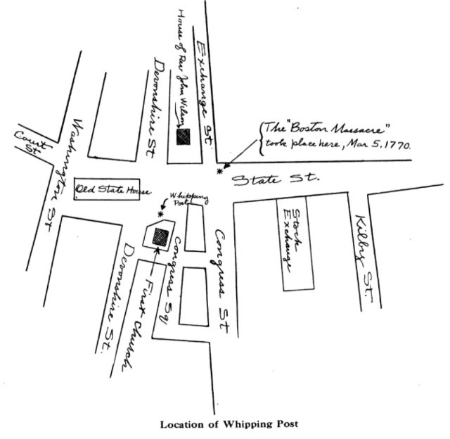 Obadiah Holmes Whipping Post Map