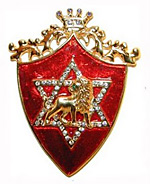 Rothchild six pointed star on red shield