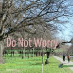 Do Not Worry Matthew 6v25